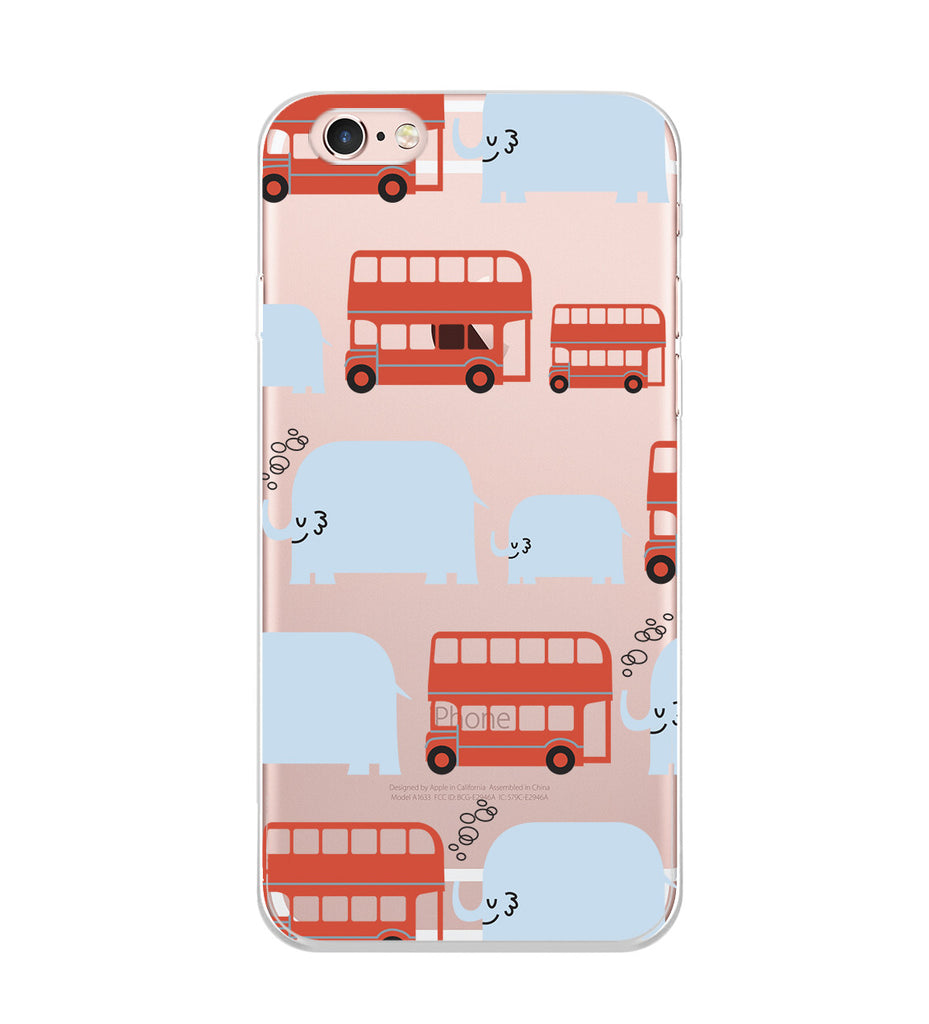 Cars and Elephants Cartoon Phone Case