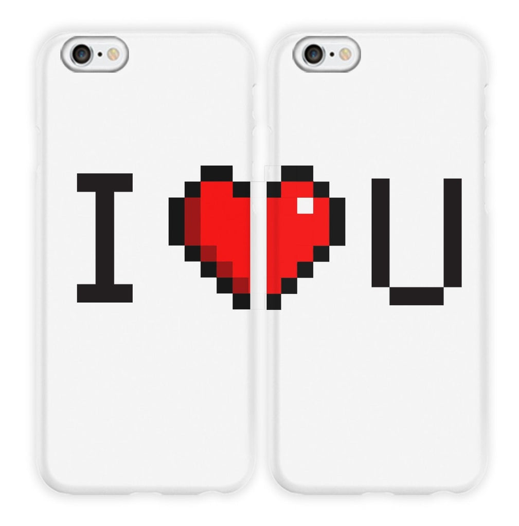 I ♥ U Couple Phone Cases