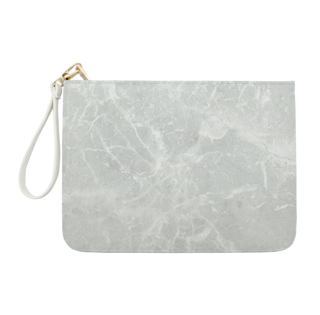 Light Grey Marble Clutch