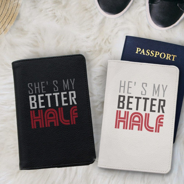 My Better Half Couple Passport Holders