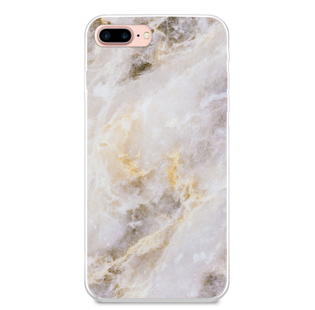 Light Grey with Golden Marble Phone Case