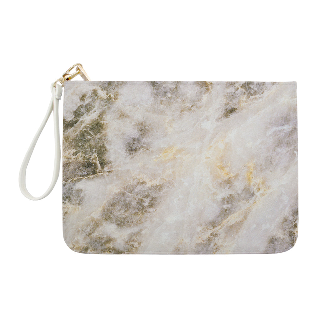 Light Grey with Golden Marble Clutch