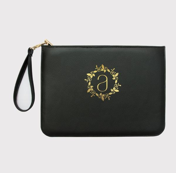 Black or White Customized Monogram Clutch