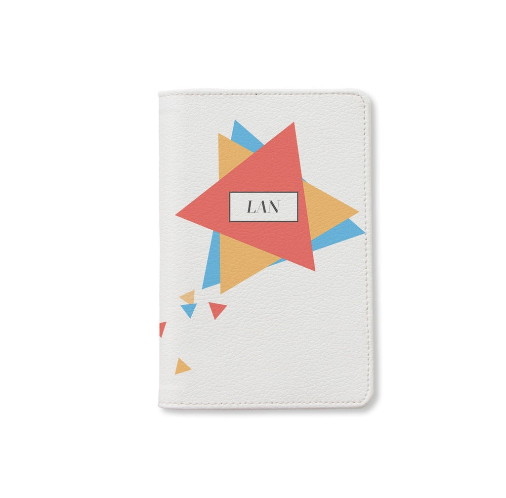 Colorful Triangles Monogram Personalizable Passport Holder