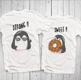 Chubby Penguin Couple T-Shirt