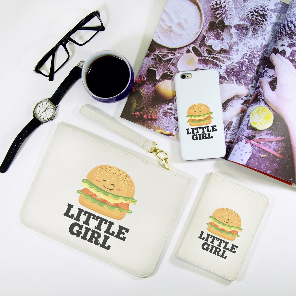 Hamburger Cartoon Combo Passport Holder, Clutch and Phone case