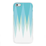 Blue Triangle Monogram Phone Case