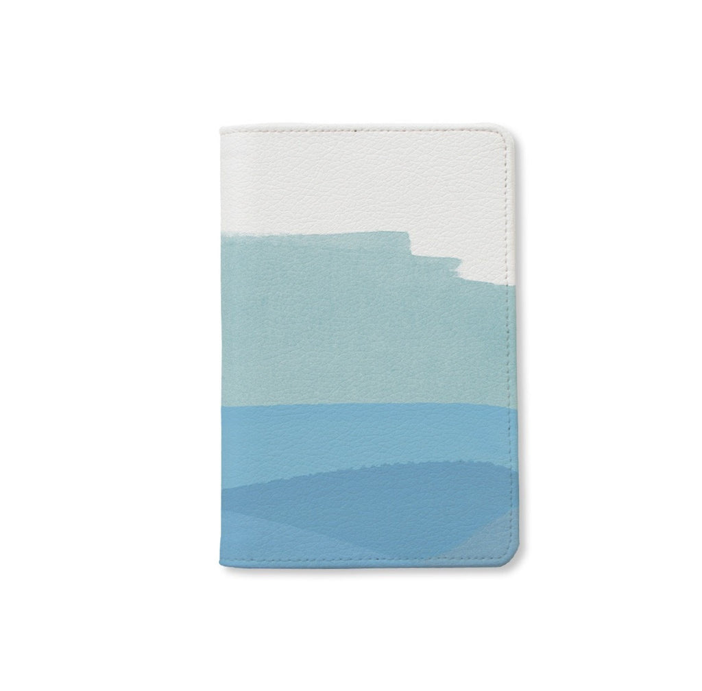 Pastel Blues Monogram Passport Holder
