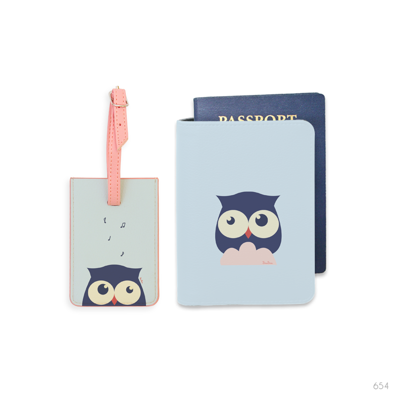Above The Clouds Combo Luggage Tag and Passport Holder