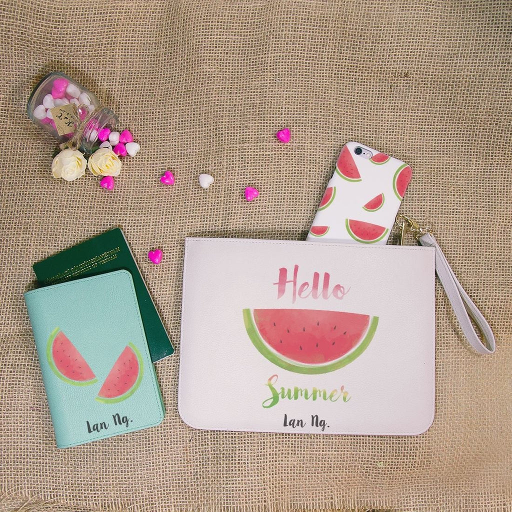 Tropical Fruit Combo Passport Holder, Clutch and Phone case