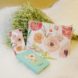 Blooming Roses Watercolor Combo Passport Holder, Clutch and Phone case