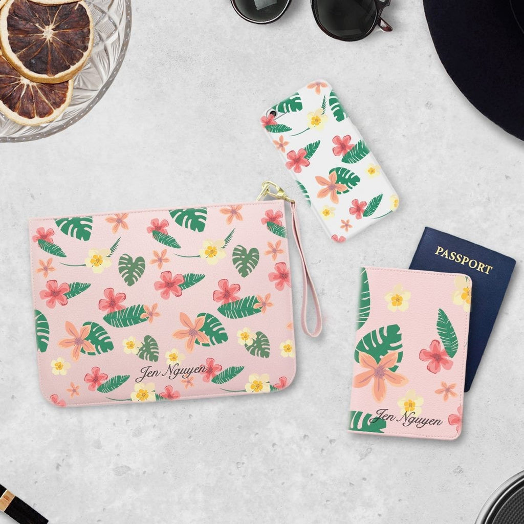 Summer Day Combo Passport Holder, Clutch and Phone case
