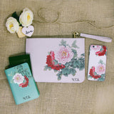 Stunning Peony Combo Passport Holder, Clutch and Phone case