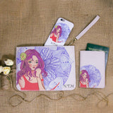 Virgo Lady Combo Passport Holder, Clutch and Phone case