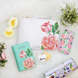 Rose Combo Passport Holder, Clutch and Phone case