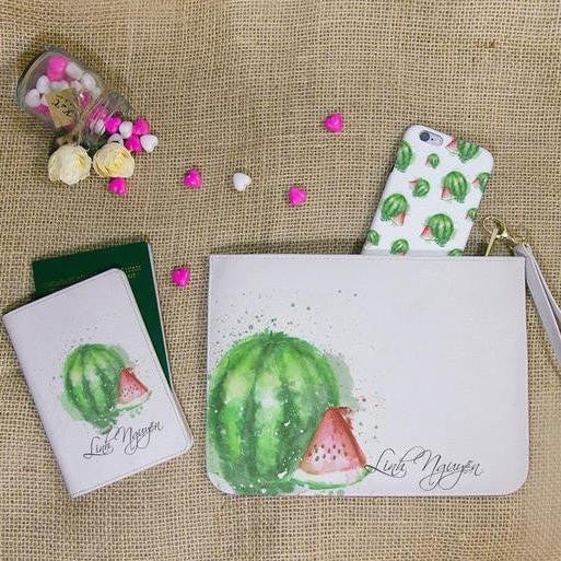 Watermelon Combo Passport Holder, Clutch and Phone case