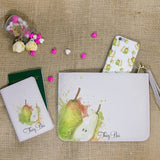 Pear Combo Passport Holder, Clutch and Phone case