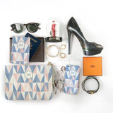 Symmetry Life Combo Personalizable Passport Holder, Clutch and Phone case