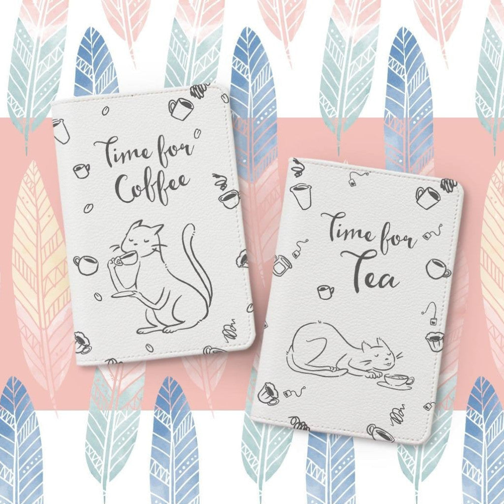 Time For Coffee Couple Personalizable Passport Holders