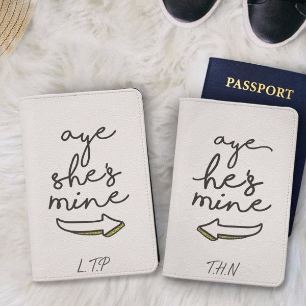 You Belong to Me Couple Passport Holder