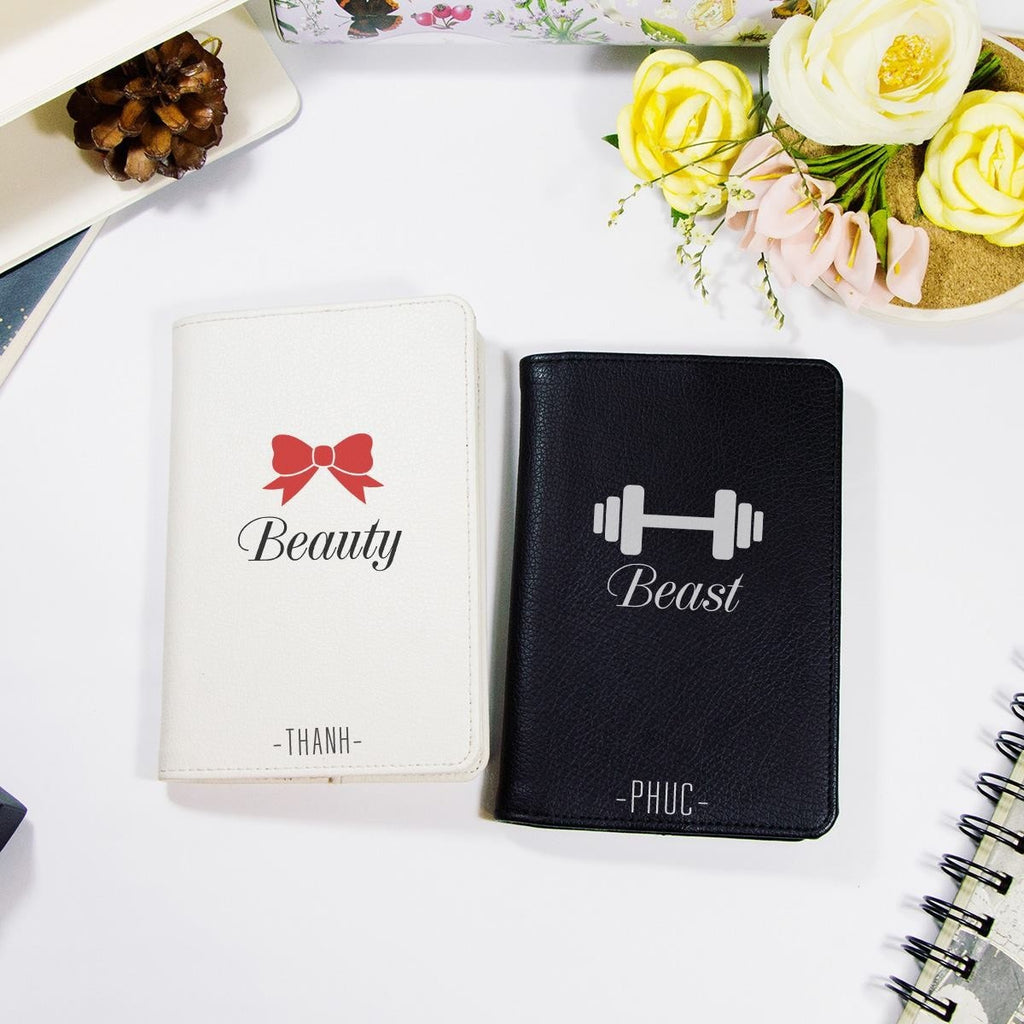 Beauty and The Beast Couple Personalizable Passport Holders