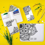 Flower Blooming Mandala Combo Wallet , Clutch and Phone case