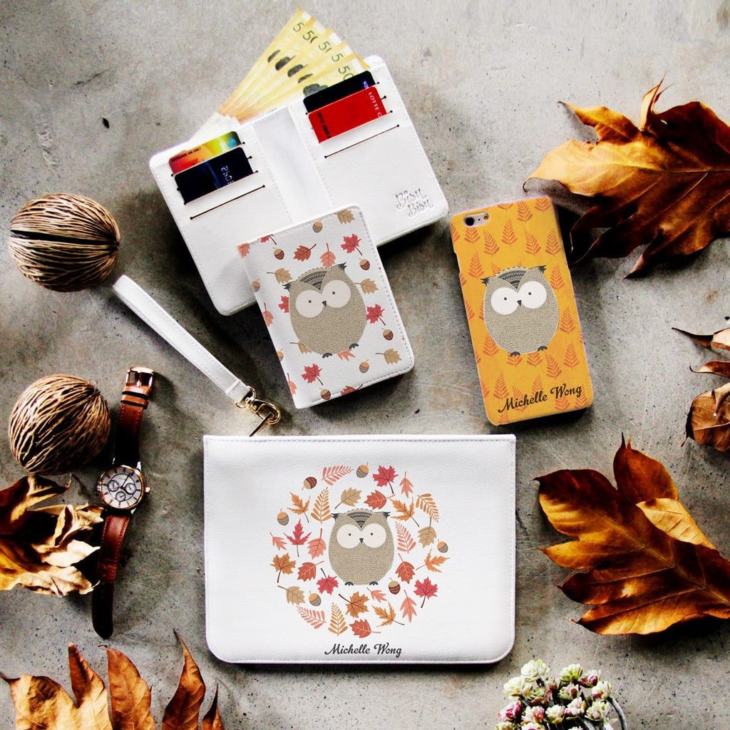The Little Owl Combo Wallet , Clutch and Phone case