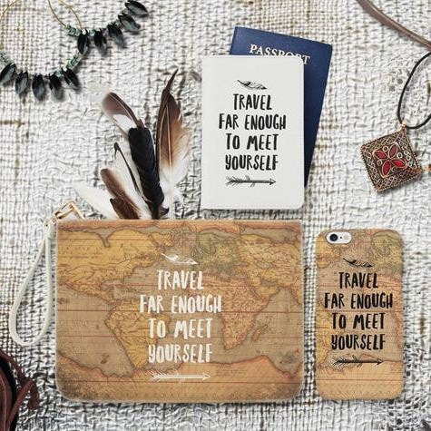 Travel Combo Passport Holder, Clutch and Phone case