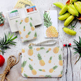 Pinapple Combo Wallet , Clutch and Phone case