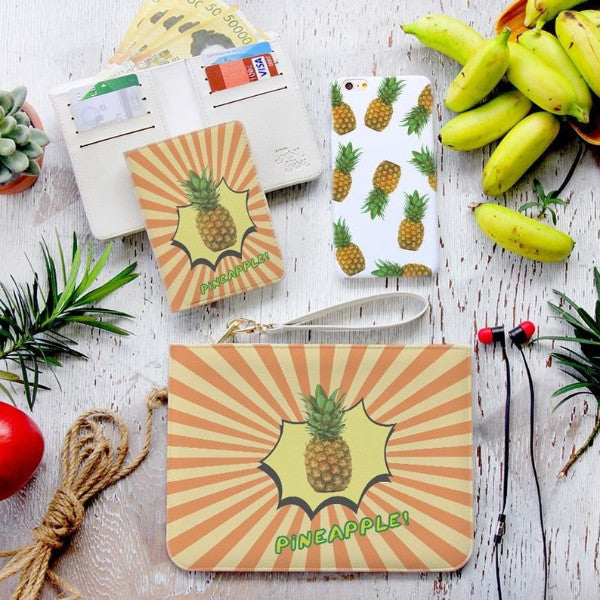 Pinapple Pen Combo Wallet , Clutch and Phone case