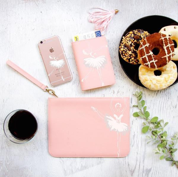 Ballet Dancer Combo Passport Holder, Clutch and Phone case