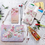 Magnolia Flower Combo Wallet , Clutch and Phone case