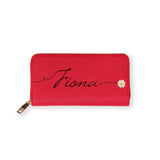 Signature Daisy Red Zippy Long Wallet