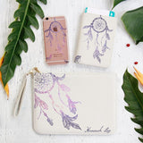 Purple Dream Catcher Combo Passport Holder, Clutch and Phone case