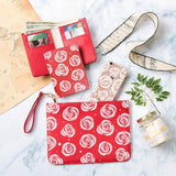 Red Rose Combo Wallet , Clutch and Phone case