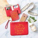 Live Laugh Love Combo Wallet , Clutch and Phone case