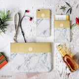 Yellow & Grey Marble Combo Passport Holder, Clutch and Phone case