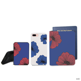 Red Pressed Flowers Combo Passport Holder, Power Bank and Phone case