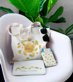 Ginkgo Combo Passport Holder, Clutch and Tote Bag