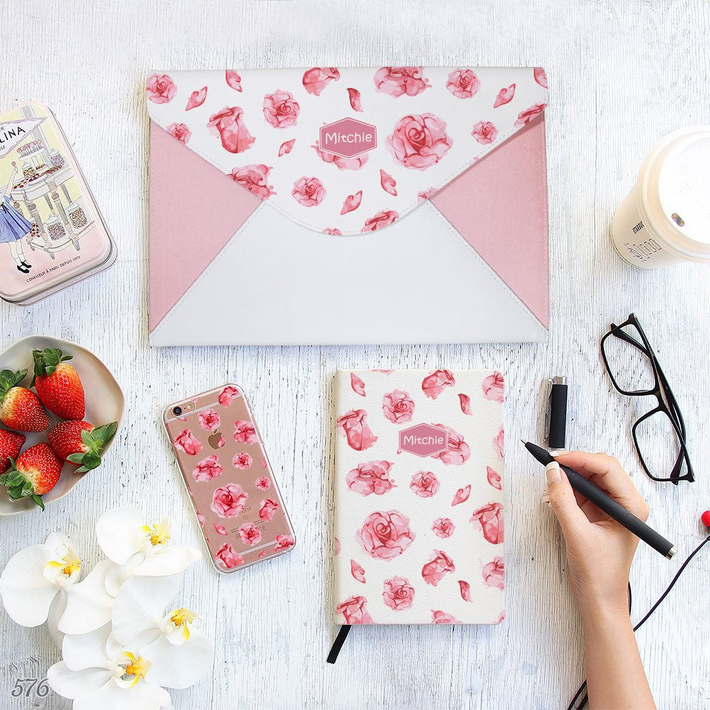 Roses Matching Set Notebook, Envelope Clutch and Phonecase