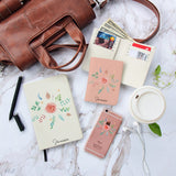 Pinky Flowers With Colorful Leaves Combo Notebook, Wallet and Phonecase