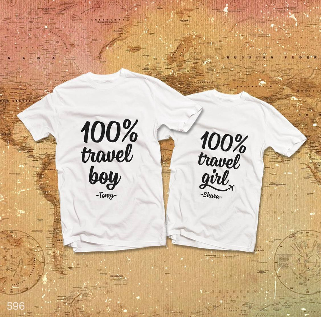 100% Travel Couple T-Shirt