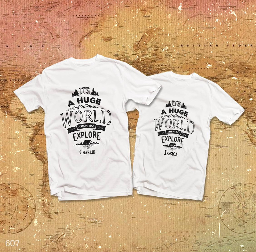 It's A Huge World Couple T-Shirt