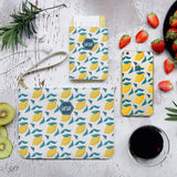 Lemon and Leaves Combo Passport Holder, Clutch and Phone case