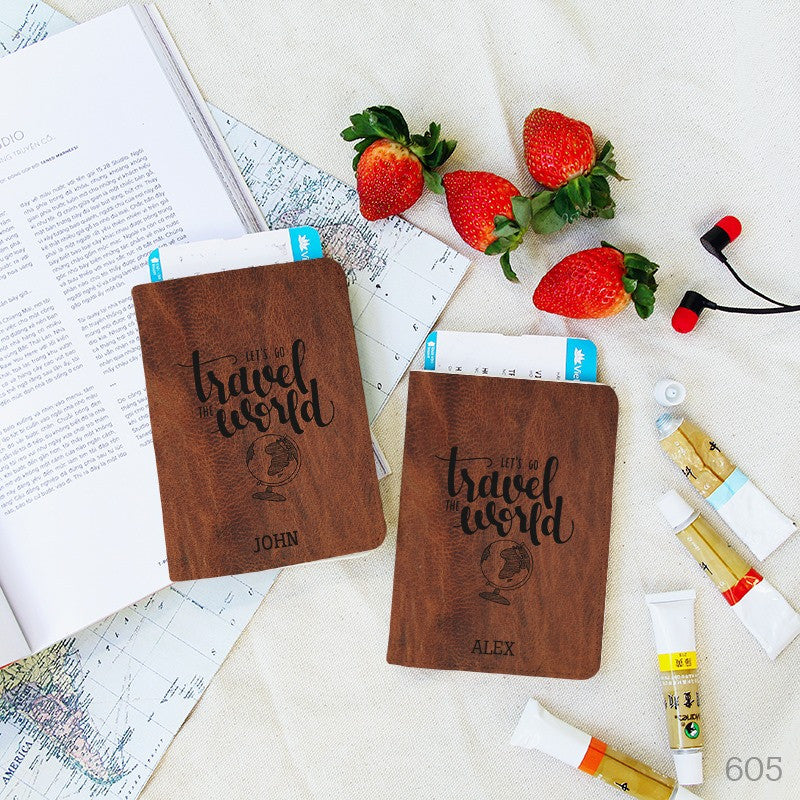 Let's go Travel the World Passport Holder
