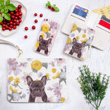 Floral Pitbull Combo Wallet , Clutch and Phone case