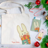 Scarf Rabbit Combo Personalizable Passport Holder, Clutch and Tote Bag