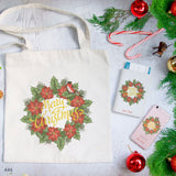 Christmas Wreath Combo Passport Holder, Clutch and Tote Bag