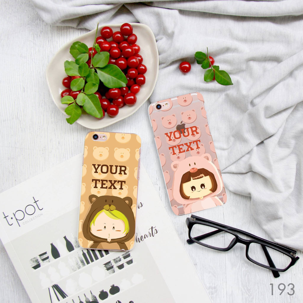Bear and Pig Couple Phone Cases