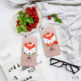 Christmas Fox Couple Phone Cases